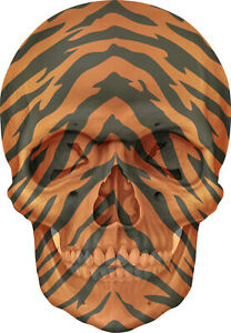 Gothic Skull Double Exposure Tiger Stripes View Wall Sticker Mural Art Decal 1A