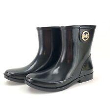 Michael Kors MK Benji Rain Boots Bootie Mid Calf Black Size 8 NWOB