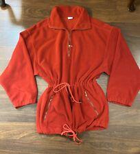 Bogner Red Fleece Ski Pullover Sweater Or Jacket Vintage 90's Womens Size M