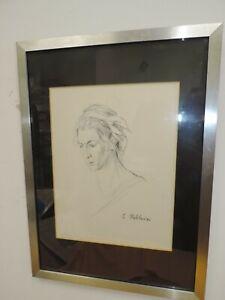 Original Pen & Ink Drawing By Infamous Artist & Forger Eric Hebborn Framed