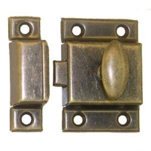 B & M Hardware 1612 Cabinet Furniture Door Latch Catch Antique Brass Chrome