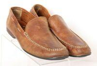 Frye 3480259 Lewis Venetian Moc Toe Brown Slip On Casual Loafers Men's US 10