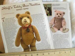 Steiff 's Teddy Bear Novelties Article 1925-1941  7 Page Article