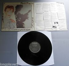 David Bowie - Scary Monsters Holland RCA 1980 1st Press LP with Inner Sleeve