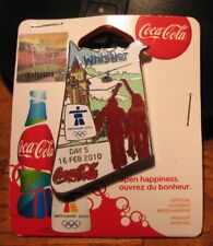 Day 5 Bottle set 16 feb  AUTHENTIC Coca cola  Vancouver 2010  Olympic PIN NEW
