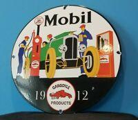 VINTAGE MOBIL GASOLINE PORCELAIN GAS AUTO MOTOR OIL SERVICE STATION PUMP SIGN