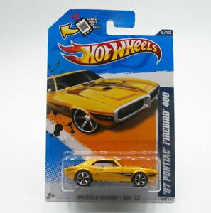 Hot Wheels Muscle Mania GM '12 '67 Pontiac Firebird 400 1:64 New Free Shipping