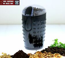Electric Herb Coffee Grinder Stainless Steel Blades Spices Nuts Ovente Black New