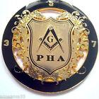PHA Black & Golden 3.5.7 Masonic Key Prince Hall Affiliated Cut Out Car Emblem