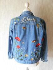 Damen-Jeansjacke Gr.38 mit wunderschönen Stickereien-Top Zustand!