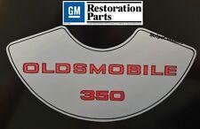 Oldsmobile 1975 1976 1977 1978 1978 1980 350 4V Air Cleaner Decal Olds 75-80