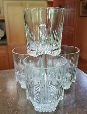 BORMIOLI ROCCO Italy SELECTA CRYSTAL OLD FASHIONED GLASSES 4 Fan Vertical Cuts