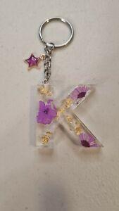 Handmade Resin Initial Letter K Keychain