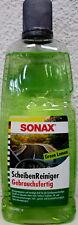 SONAX ScheibenReiniger Sommer Gebrauchsfertig Green Lemon 386341 Klare Sicht 1L