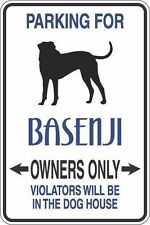"""*Aluminum* Parking For Basenji Owners Only 8""""x12"""" Metal Novelty Sign S279"""