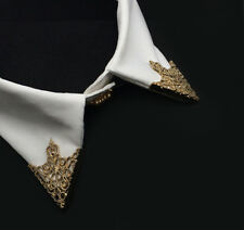 2pcs/pair Gold Spike Stud Triangle Blouse Shirts Collar Clip Brooch Pin