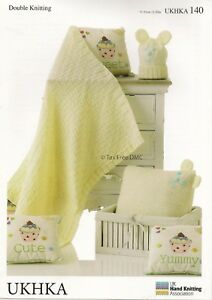 Hand Knitting PATTERN ONLY Double Knit Baby Child Hat Blanket UKHKA140 New