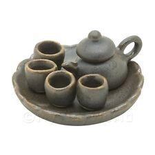 Maison de poupées fait main Mate Métallique Céramique service à thé