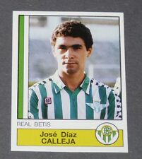 66 JOSE DIAZ CALLEJA REAL BETIS PANINI LIGA FUTBOL 87 ESPAÑA 1986-1987 FOOTBALL