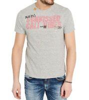 Buffalo David Bitton Mens T-Shirt Heather Gray Size XL Paint Splatter Tee 052