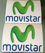 MOVISTAR Decals / Stickers Moto GP Team Sponsor (135mm x 100mm) X2