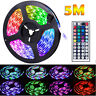 Durable 5M 16.4ft 300 LED RGB 3528 SMD Strip Light Flexible 12V+Remote USA