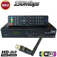 ►SAB SKY 4900 1xCard Full HD SAT Receiver USB YouTube WLAN Mediaplayer HDTV WiFi