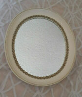 Vintage Syroco Wood Oval Hanging Wall Mirror
