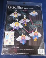 Bucilla Angels Christmas Ornaments Magnets Plastic Canvas Kit - 6159 - Makes 6