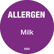 116141 - Daymark 25mm Circle Purple Allergen Milk Label