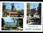 SAINT-ETIENNE (42) PUITS de MINE COURIOT , MUSEE & AUTOBUS à l'EGLISE en 1990