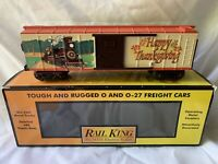 MTH RAILKING HAPPY THANKSGIVING TURKEY EXPRESS BOXCAR LN/BOX FOR LIONEL TRAIN