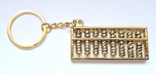 Chinese Abacus Keychain Gold