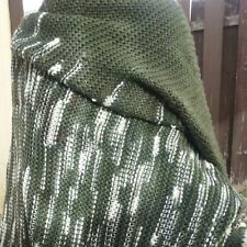 LuLaRoe Mimi Olive Green and white Shawl Poncho Wrap Scarf Sold Out Ltd Edition
