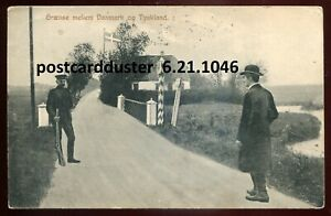 1046 - DENMARK Postcard 1910 Border Crossing with Germany