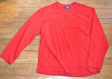Chaps Sleepwear Fleece Red Pullover Lounge Sweatshirt Long Sleeve Top