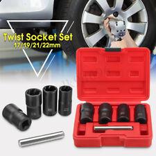 """5X Twist Socket Kit 1/2"""" Drive Wheel Lock Nut Remover / Removal 17 19 21 22mm AU"""
