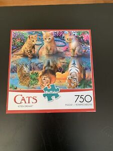 """CATS """"Kitten Dreams"""" 750 Sealed Pieces Puzzle Buffalo USA Art of Eduard w/POSTER"""