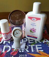 LATTE MALVA JUST (250 ml) + DEO ROLL ON MALVA (50 ml)+ OROLOGIO AL QUARZO GRIGIO