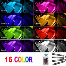 4x 12 LED Car Interior Atmosphere Neon Lights Strip Music Control+IR Remote VZ