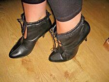 Kit de Tk Maxx * Reino Unido 5 * Negro * Stiletto botín tobillo * Nuevo * Cuero Real