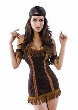 SEXY NATIVE INDIAN CHEROKEE POCAHONTAS PRINCESS FANCY DRESS HALLOWEEN COSTUME S