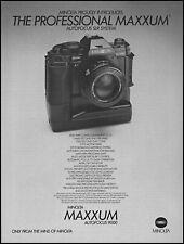 1985 Minolta SLR Maxxum autofocus 9000 camera vintage photo print ad ads50