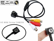 Mini videocamera microspia spy cam video colori.Vite Screw Camera Spia Pinhole