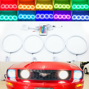 IR cotton RGB LED halo ring for ford Mustang GT 05-09 headlight fog light DRL