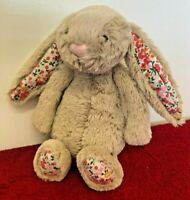 """Blossom 7"""" Honey Bunny Rabbit Beige light Brown Soft Toy Floral Ears  Jellycat"""