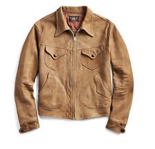 RRL Ralph Lauren Suede Western Motorcycle Roughout Leather Jacket Men's XL