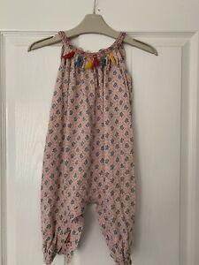 Baby Girls Tasselled & Patterned Romper Marks & Spencer 9-12m
