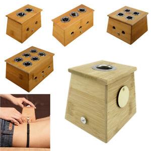 18mm/0.7'  Moxa Stick Roll Holder Healing Therapy Bamboo Mild Moxibustion Box艾灸盒