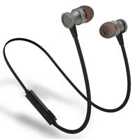Sport Running Headphone Wireless Bluetooth Headset Metal Magnetic Earphone Mic